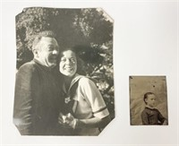 Early photo of Elaine and John couple and tintype