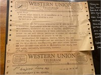 Telegram from Kennedy inviting Steinbecks