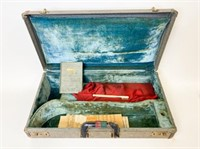 Steinbeck Trumpet Case with News Clippings