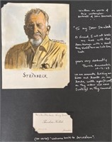 Watercolor given to Steinbeck in Israel 1963