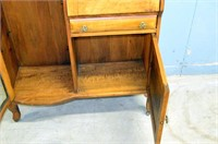 Vintage Bow Front Secretary Cabinet