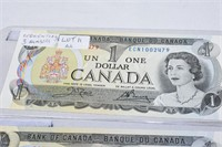 (3) $1 Bills (In Numeric Sequence)