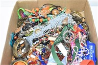 Box of Assorted Jewelry (Good for Crafts)