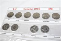 (2) Almost Complete Canadian Quarter Sets