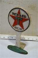Texaco cast iron sign