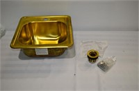 Brass Bar Sink wiht Drain and Mounting Hardware