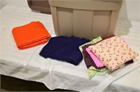 Tote of Assorted Fabric Pieces