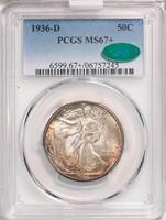 50C 1936-D PCGS MS67+ CAC