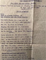 Pair of Love Poems Signed by John Steinbeck