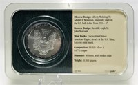 2002 Silver American Eagle $1 Coin