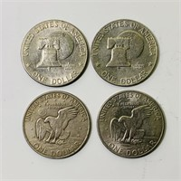 4 One Dollar Eisenhower Coins