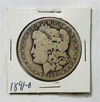 1891 o Morgan Dollar Coin