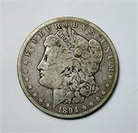 1894 o Morgan Dollar Coin
