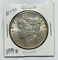 1899 o Morgan Dollar Coin