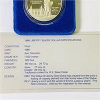 1986 Liberty Ellis Island Silver Dollar Coin