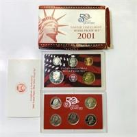 2001 US Mint Silver Proof Set