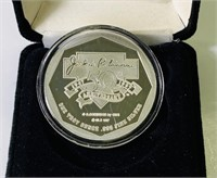 1997 Jackie Robinson One Troy Ounce fine Silver