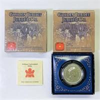 (2) 2002 Golden Jubilee uncirculated Dollar