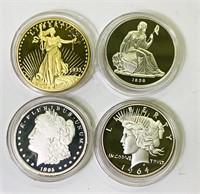 (4) COPY  Dollar Coins
