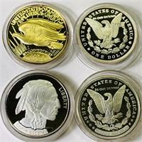 (4) COPY One Dollar Coins