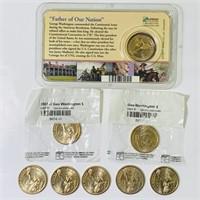 (8) 2007 Dollar Presidential Coins