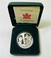 2002 Proof Silver Dollar Canada Dollar Coin