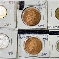 (7) Coins all marked COPY