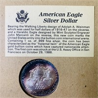 100 Years Uncirculated Silver Dollar Set Framed,