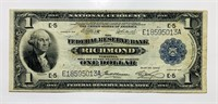 1914 One Dollar National Currency