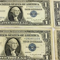 (4) 1957 A  One Dollar Silver Certificates