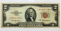 1953 A Red Seal Two Dollar Bill