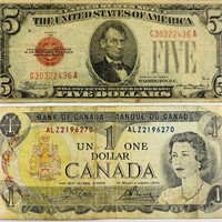 1928 c Red Seal Five Dolllar bill