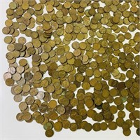 Big pile of Lincoln Wheat Pennies