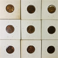 (50) Stamped Pennies, various stamps
