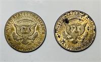 (2) 1964 Kennedy Half Dollar Coins