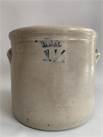 HB& L 1 1/2 Gallon Signed Crock