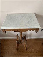 Early Marble Top Parlor Table
