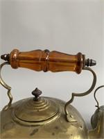 Pair Antique Brass Kettles