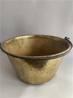 """Large 16""""Solid Brass Pail"""