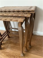 Set of Carved Nesting Tables