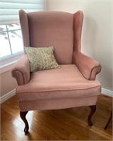 Fine Wing Back Chair and Pillow