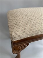 Small Antique Needlepoint Foot Stool