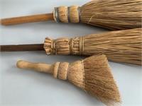 Group of Vintage Corn Brooms