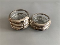 Anston Sterling Silver Coasters