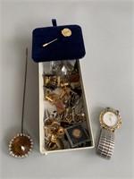 ESQ Wristwatch-Tie and Hat Pins Etc.