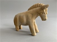 Hand Carved Stone Type Donkey-Signed
