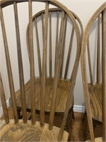Set of 4 Hoop Back Oak Chairs