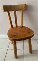 Hand Made Pine Log Type Chair