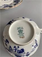 Pair of Fine Coalport Fine Bone Chinas Tea Cups/Sa