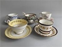 5 Bone China Tea Cups and Saucers
